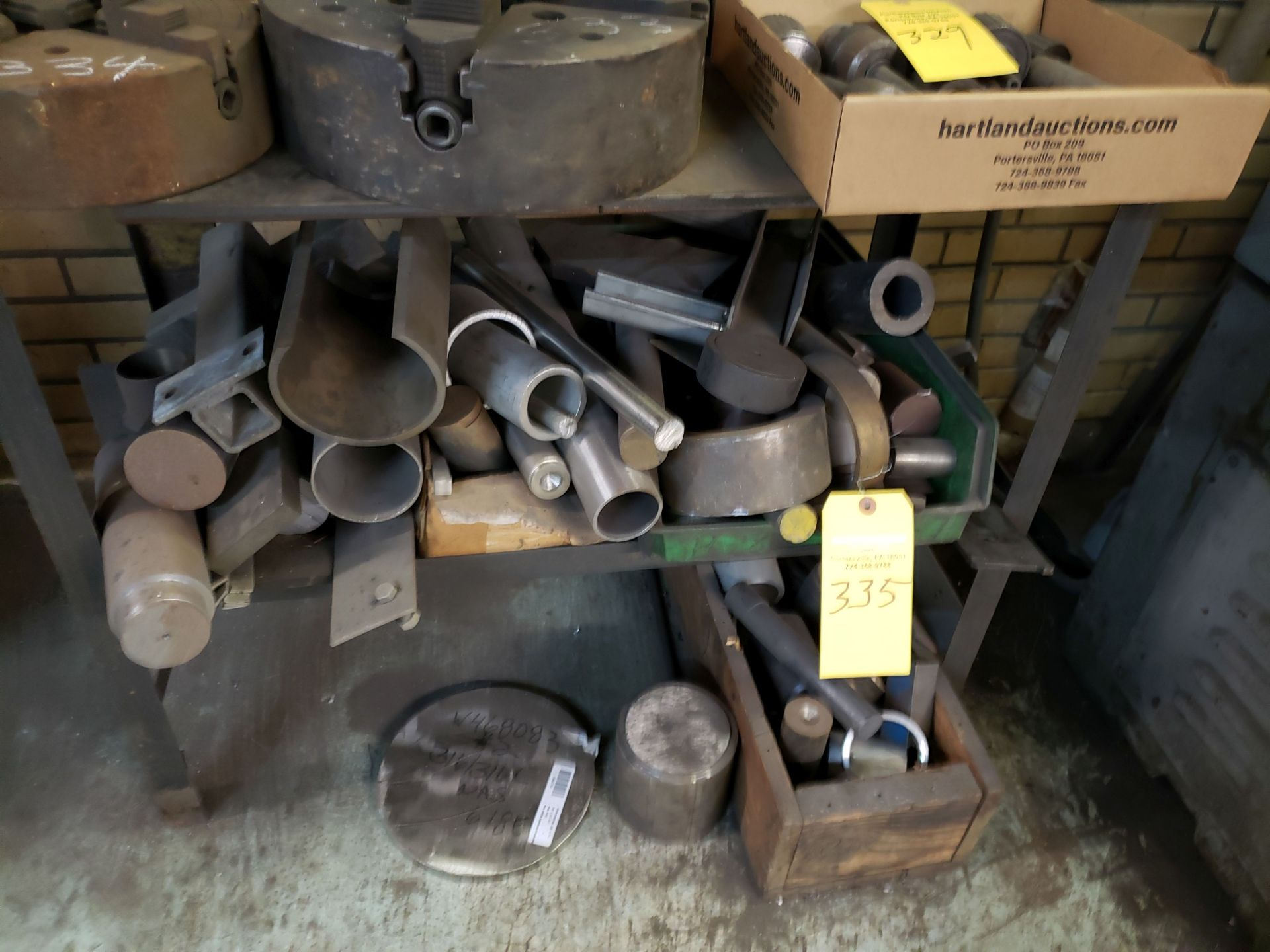 Lot 335 - TABLE AND MISC METALS
