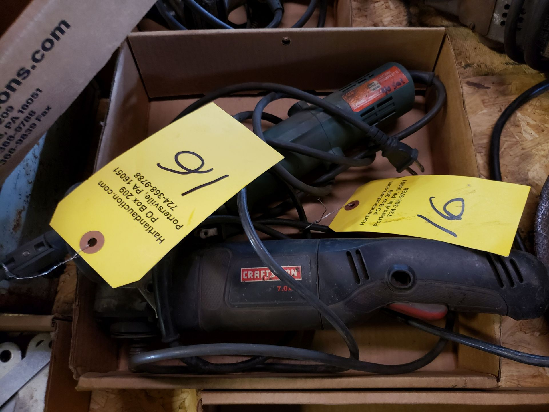 Lot 16 - DYNAFILE AND CRAFTSMAN RIGHT ANGLE GRINDER