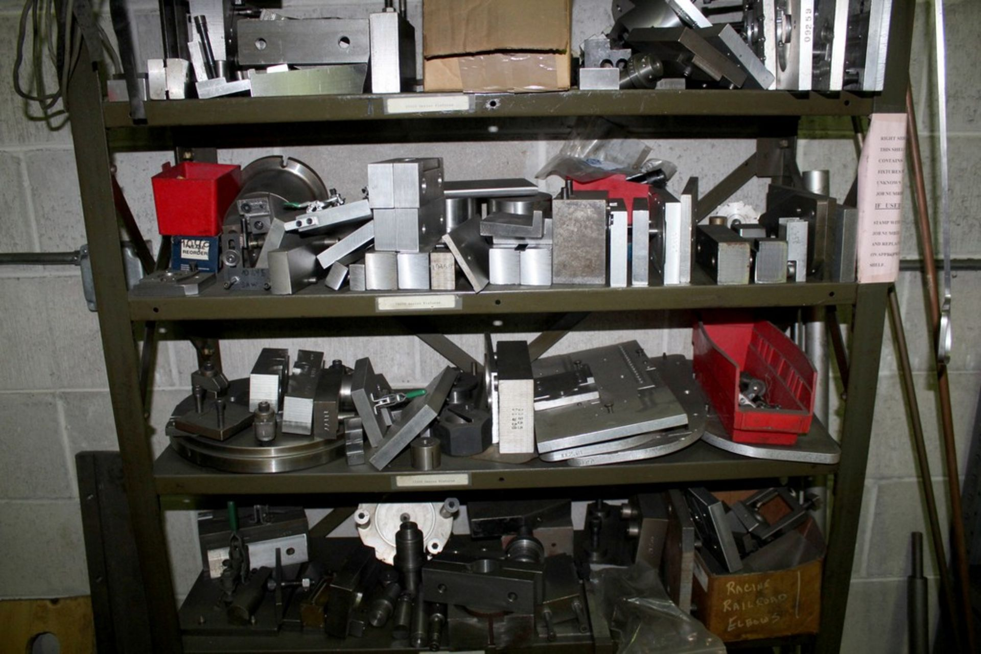 """Lot 49 - 37"""" X 12"""" X 82"""" ADJUSTABLE STEEL SHELVING WITH CONTENTS"""