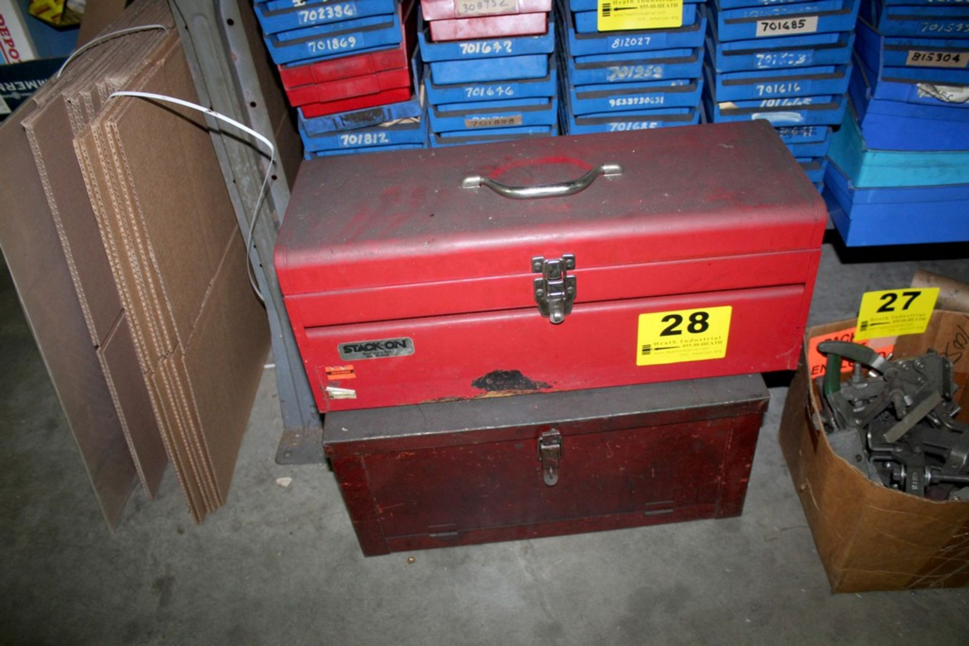 Lot 28 - (2) ASSORTED STEEL TOOL BOXES