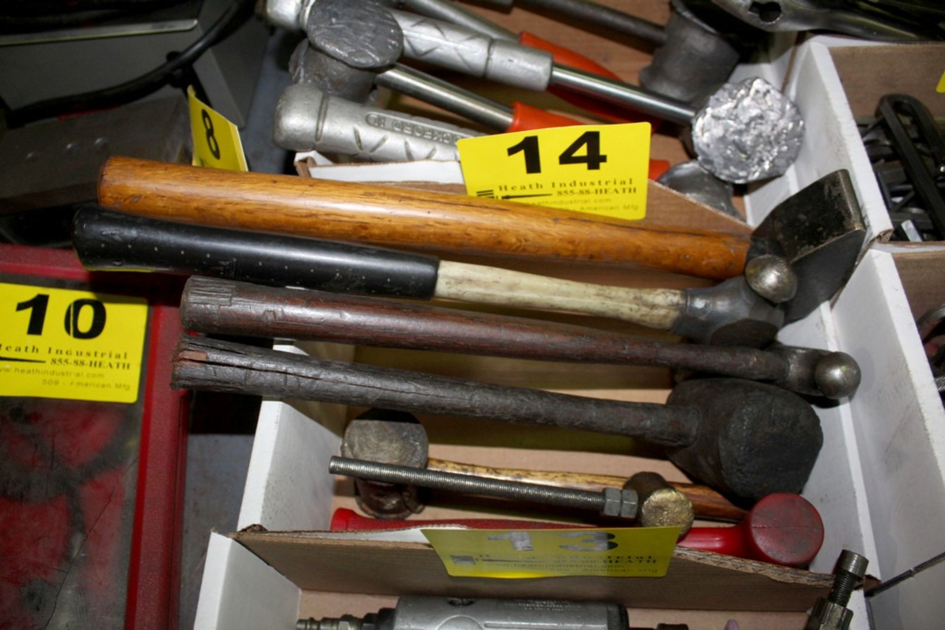 Lot 14 - LOT: (7) ASSORTED HAMMERS IN BOX