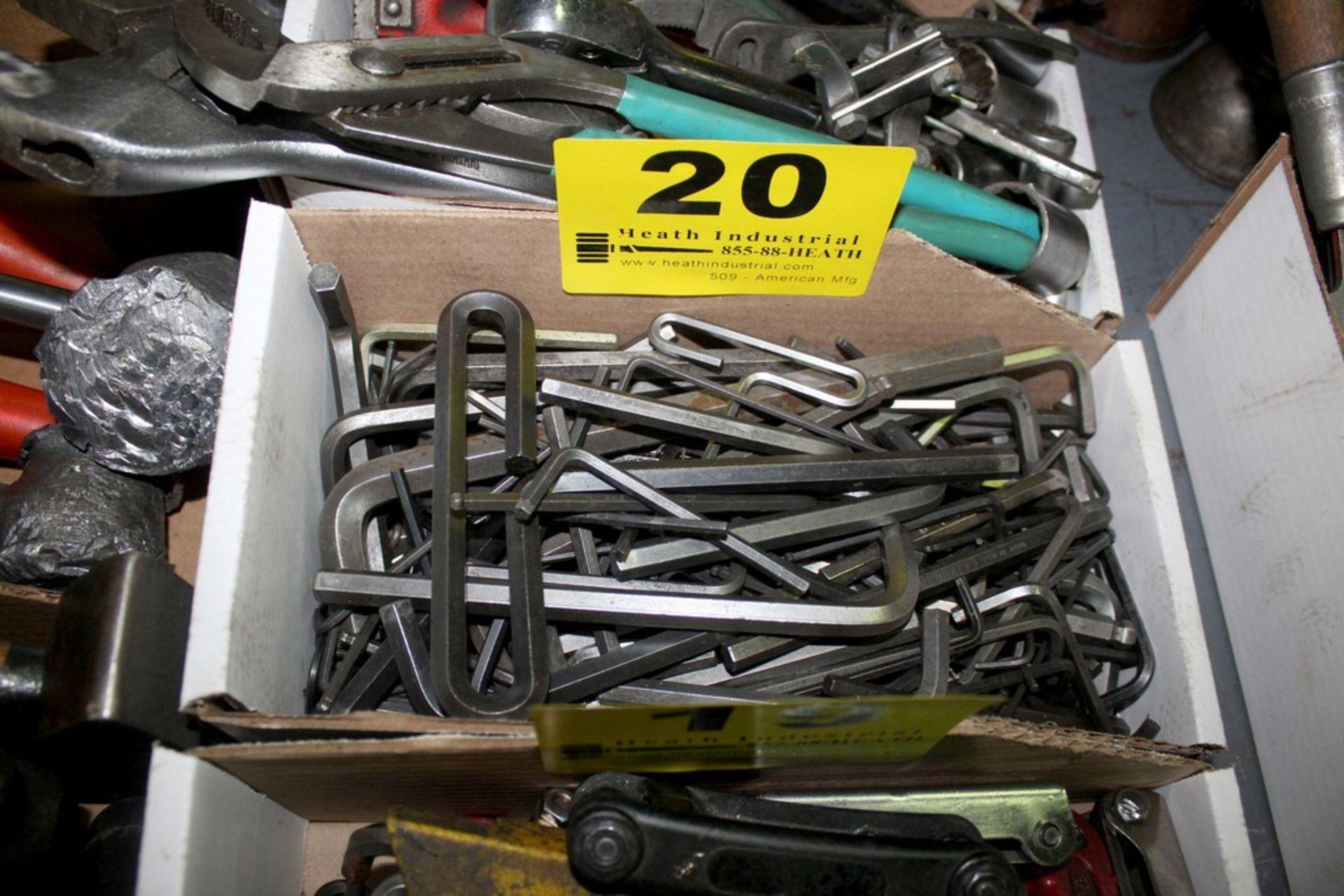 Lot 20 - ASSORTED ALLEN KEYS IN BOX