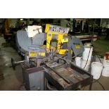 PEERLESS HB711A BANDSAW WITH ROLLER CONVEYOR AND STOCK STAND