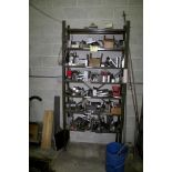"""37"""" X 12"""" X 82"""" ADJUSTABLE STEEL SHELVING WITH CONTENTS"""