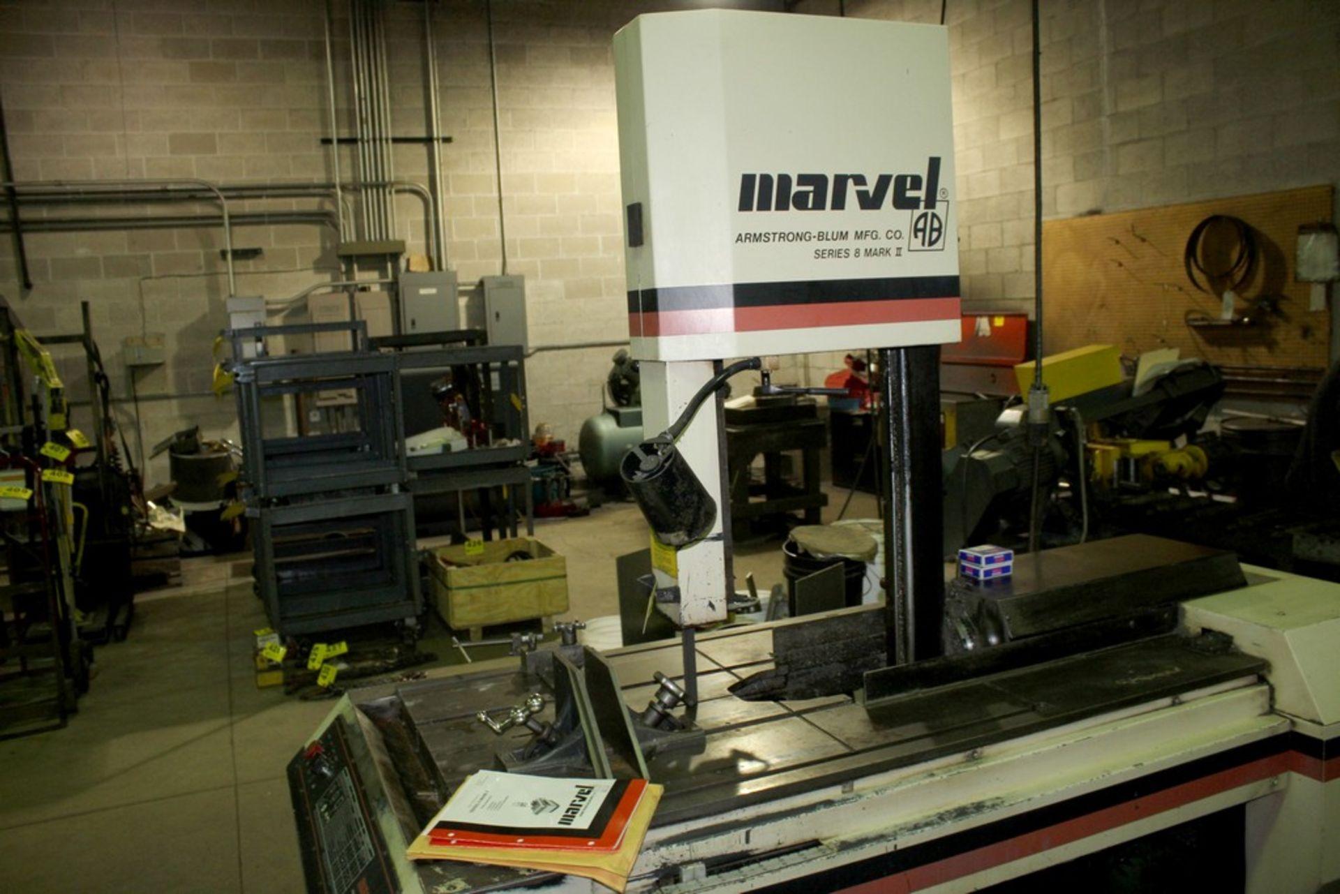 Lot 55 - MARVEL SERIES 8 MODEL MARK II UNIVERSAL VERTICAL BAND SAW, S/N 826871