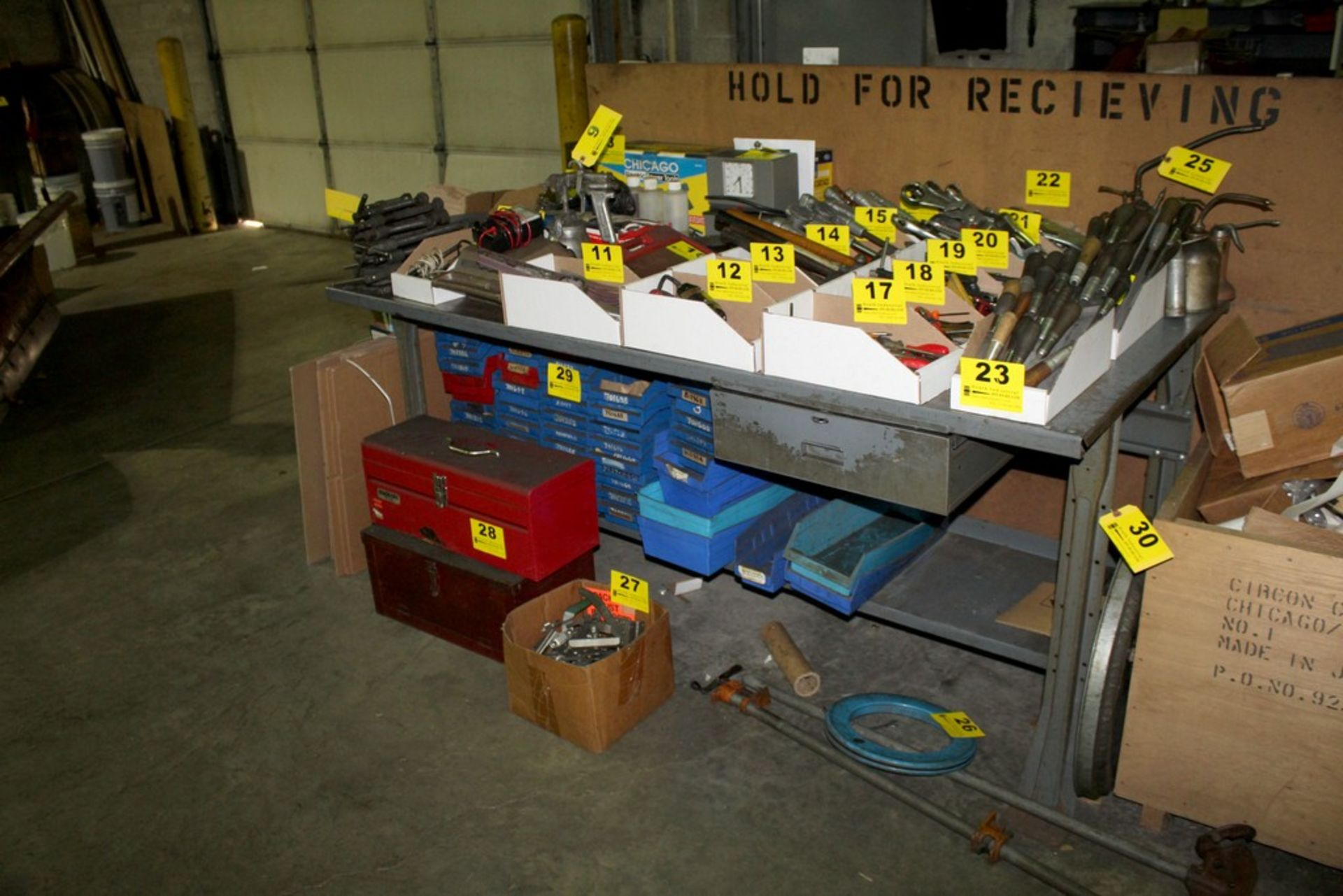 "Lot 30 - 72"" X 36"" X 34"" STEEL WORKBENCH WITH DRAWER"
