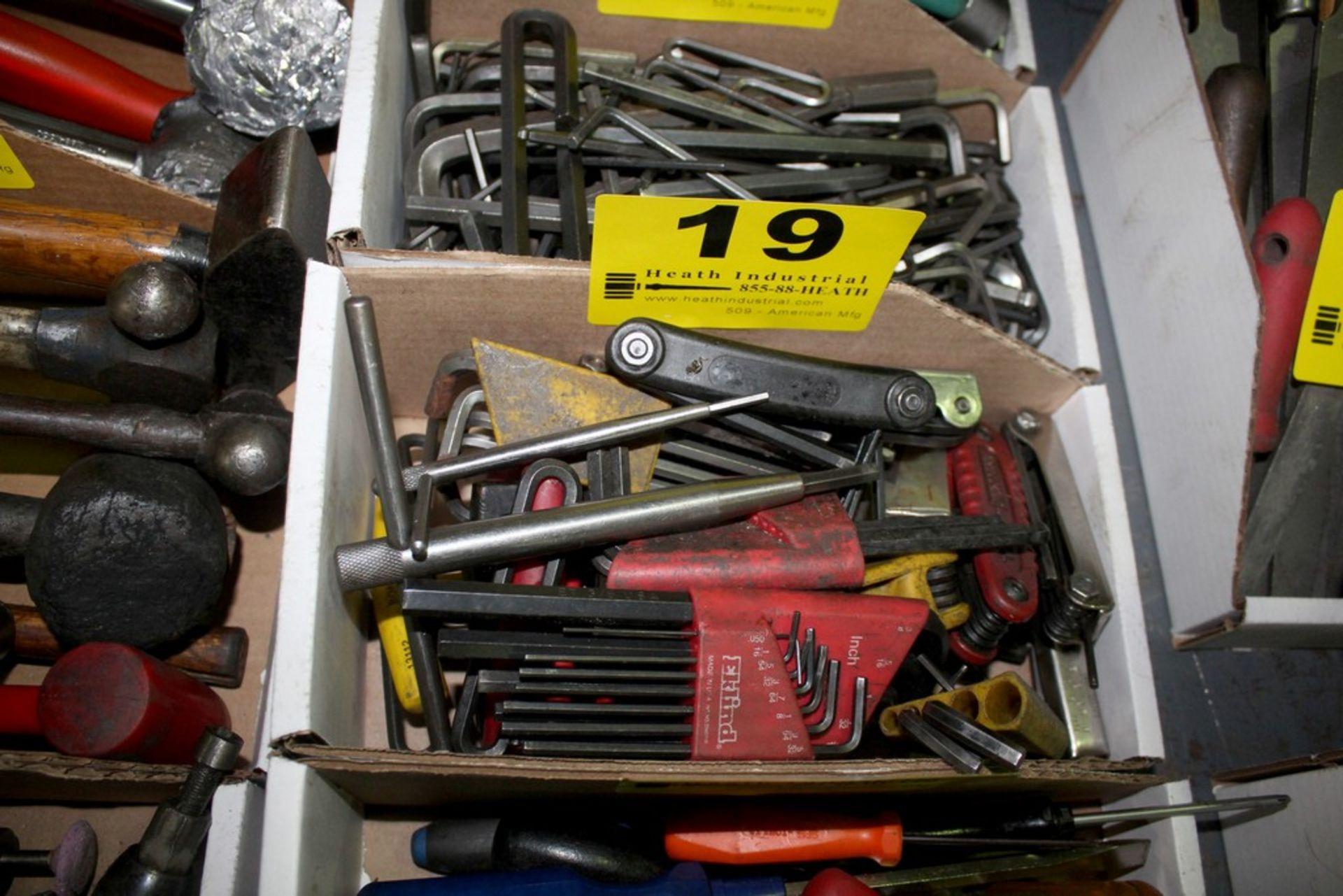 Lot 19 - ASSORTED ALLEN KEYS IN BOX