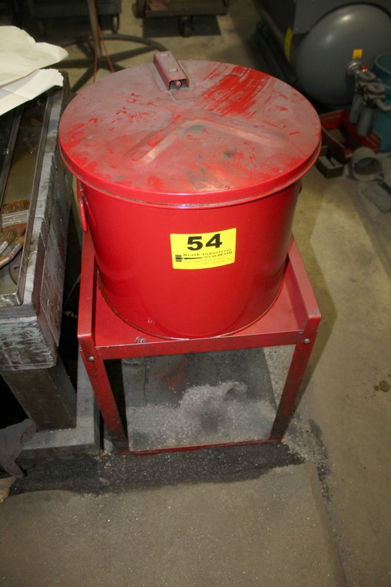 Lot 54 - RED PARTS CLEANER ON STAND