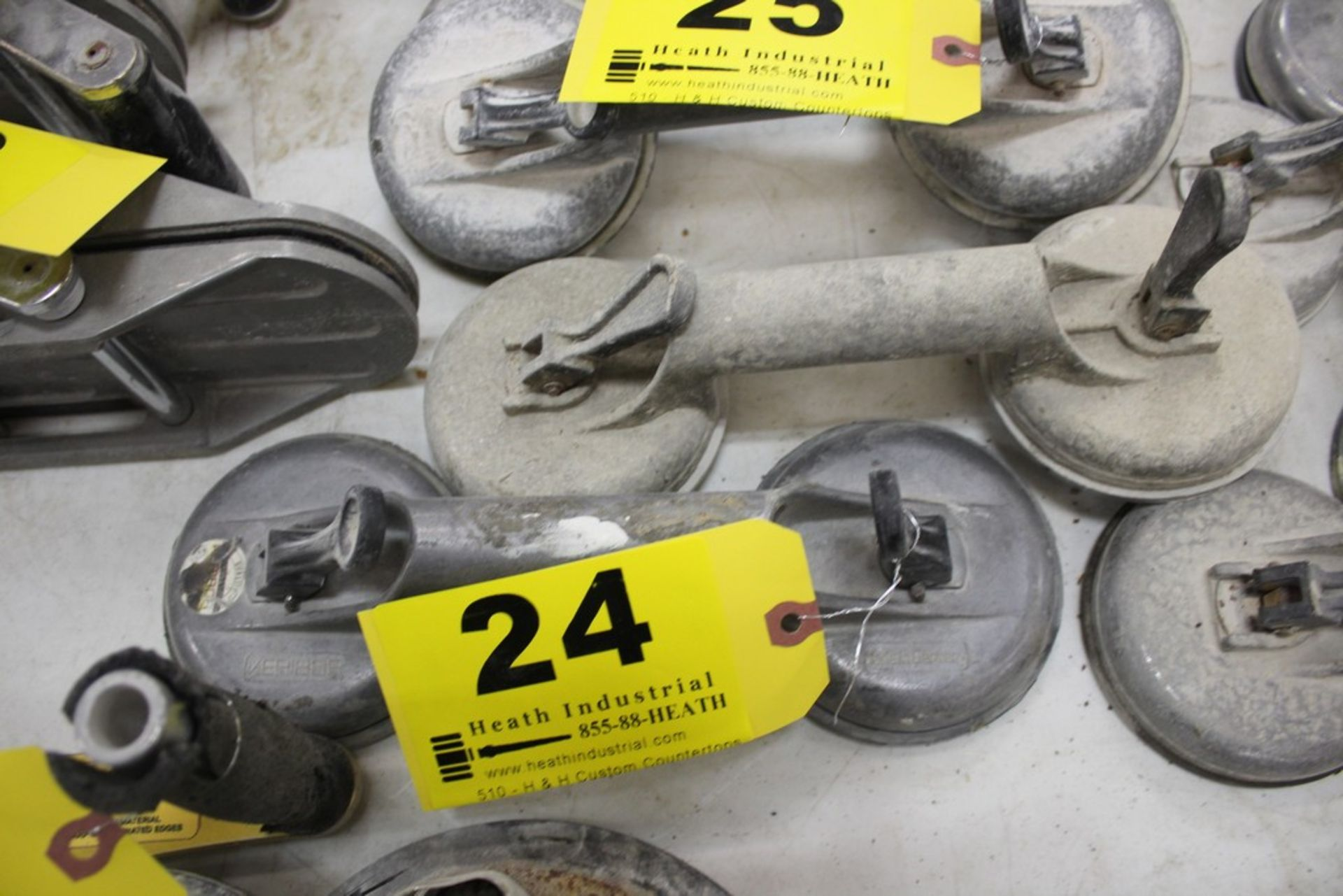 Lot 24 - PAIR OF VERIBOR SUCTION CUP MATERIAL LIFTERS