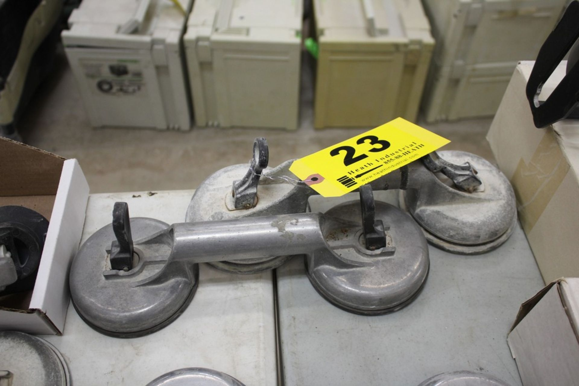 Lot 23 - PAIR OF VERIBOR SUCTION CUP MATERIAL LIFTERS