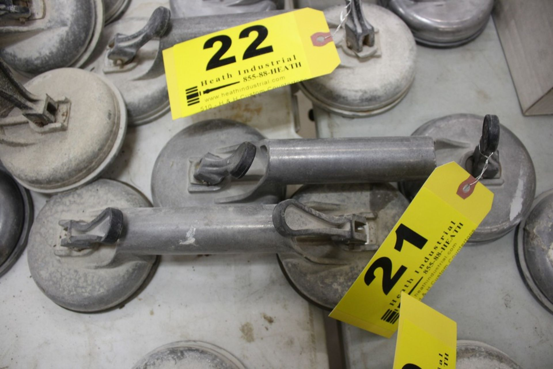 Lot 21 - PAIR OF VERIBOR SUCTION CUP MATERIAL LIFTERS