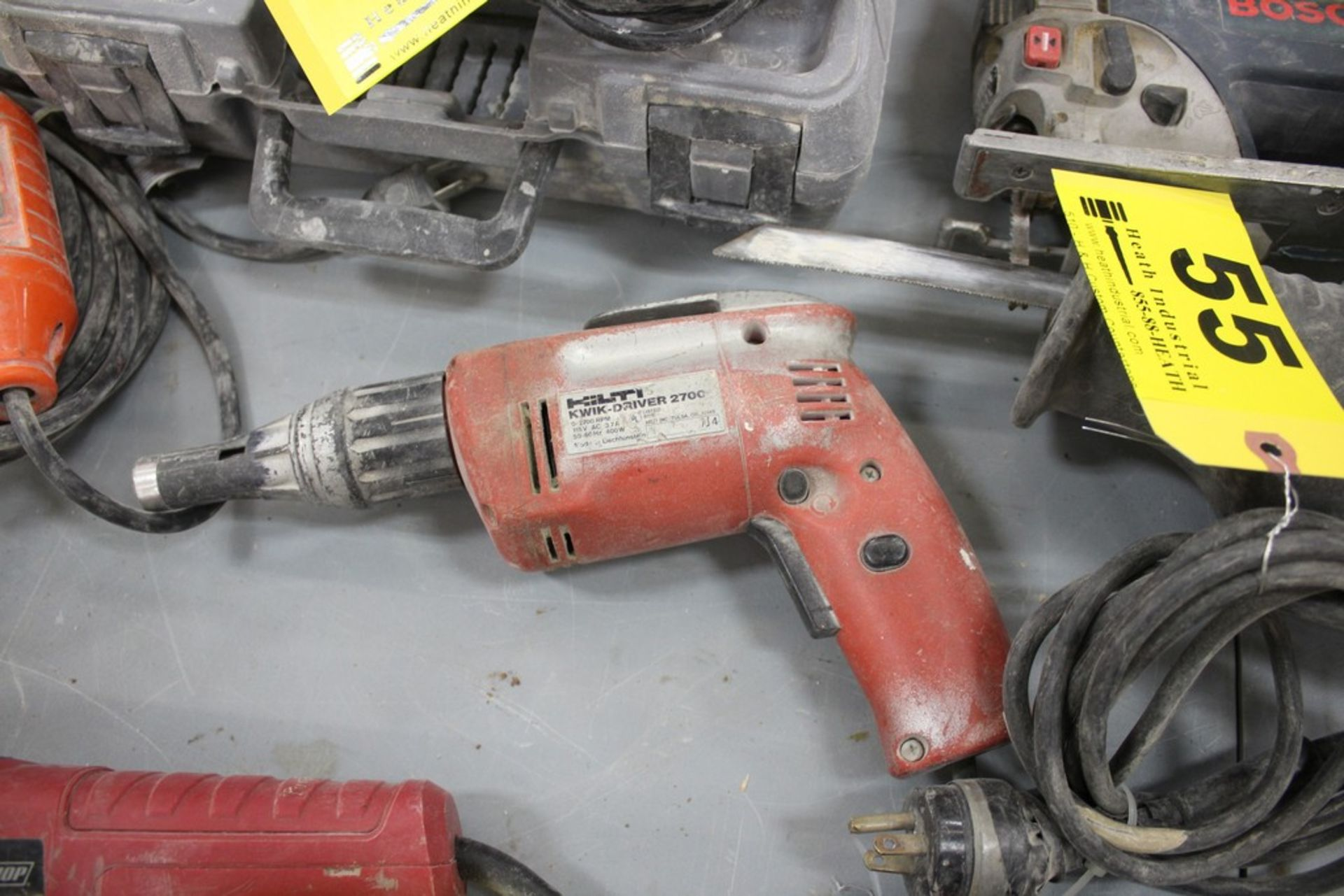 Lot 55 - HILTI KWIK DRIVER 2700 ELECTRIC SCREW GUN