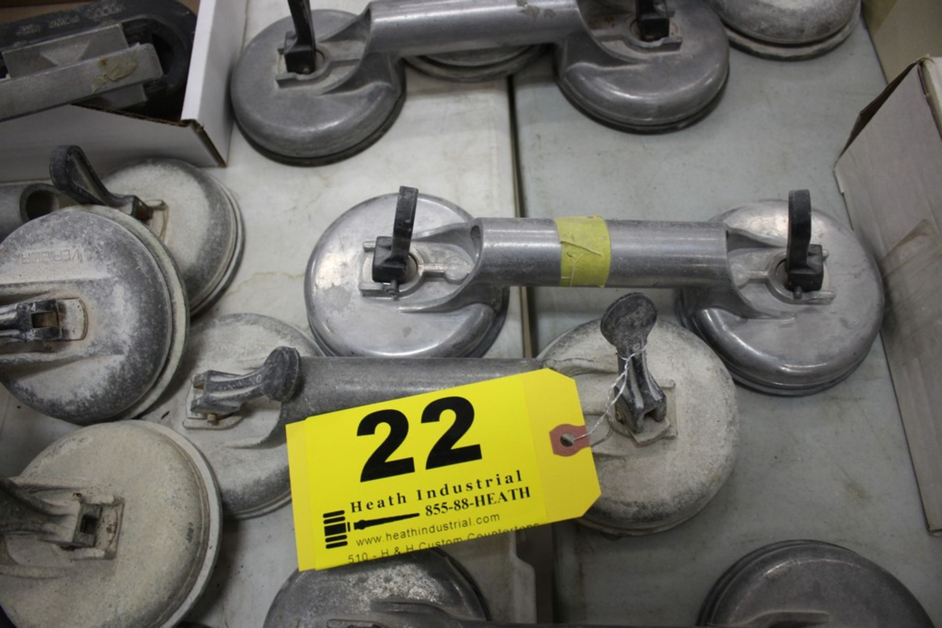 Lot 22 - PAIR OF VERIBOR SUCTION CUP MATERIAL LIFTERS