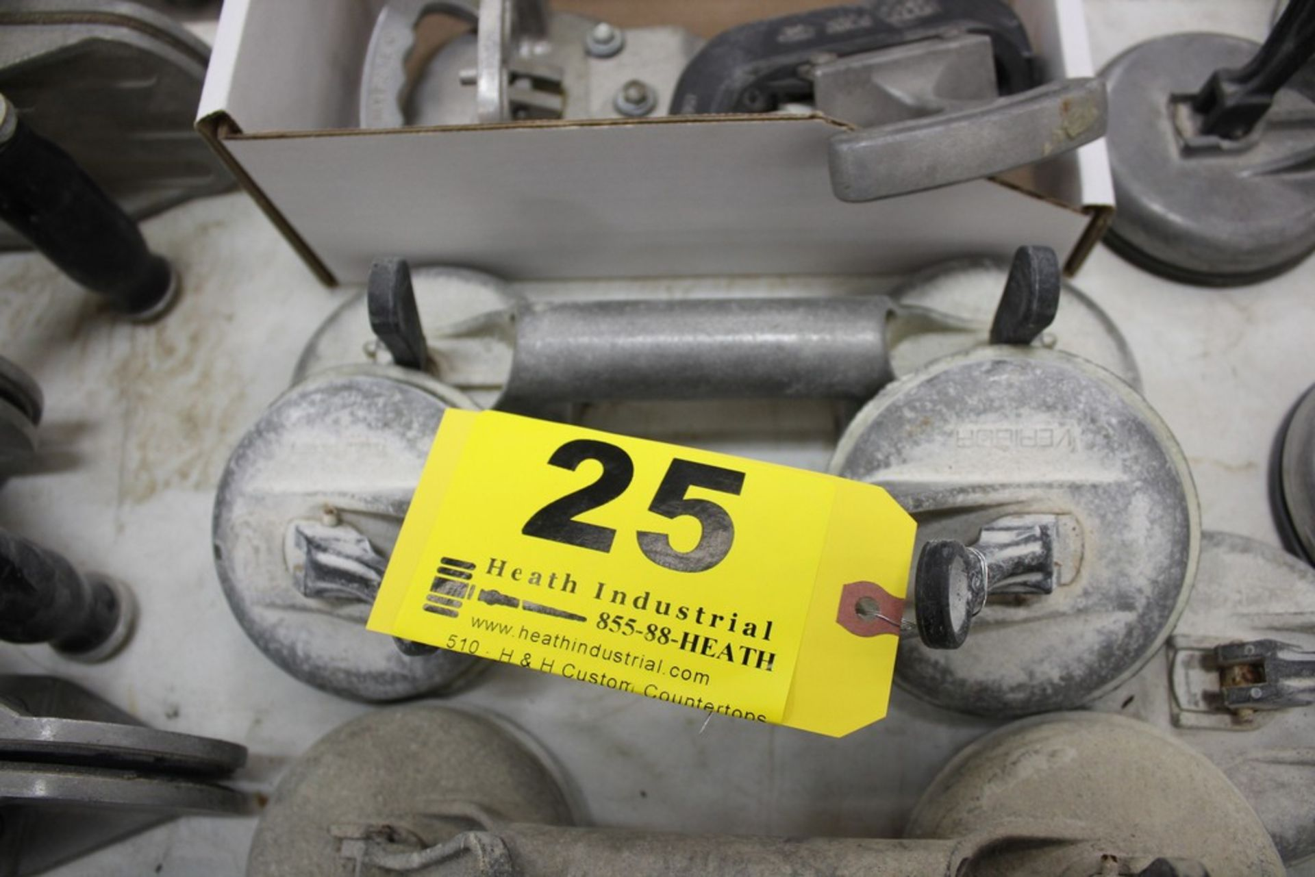 Lot 25 - PAIR OF VERIBOR SUCTION CUP MATERIAL LIFTERS