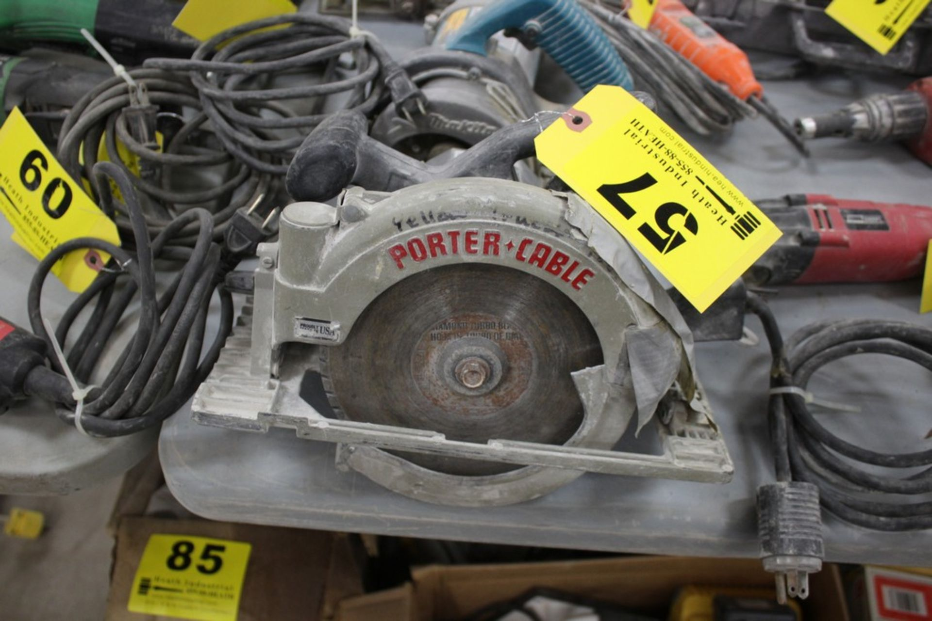 """Lot 57 - PORTER CABLE MODEL 743 7 1/4"""" HEAVY DUTY CIRCULAR SAW"""