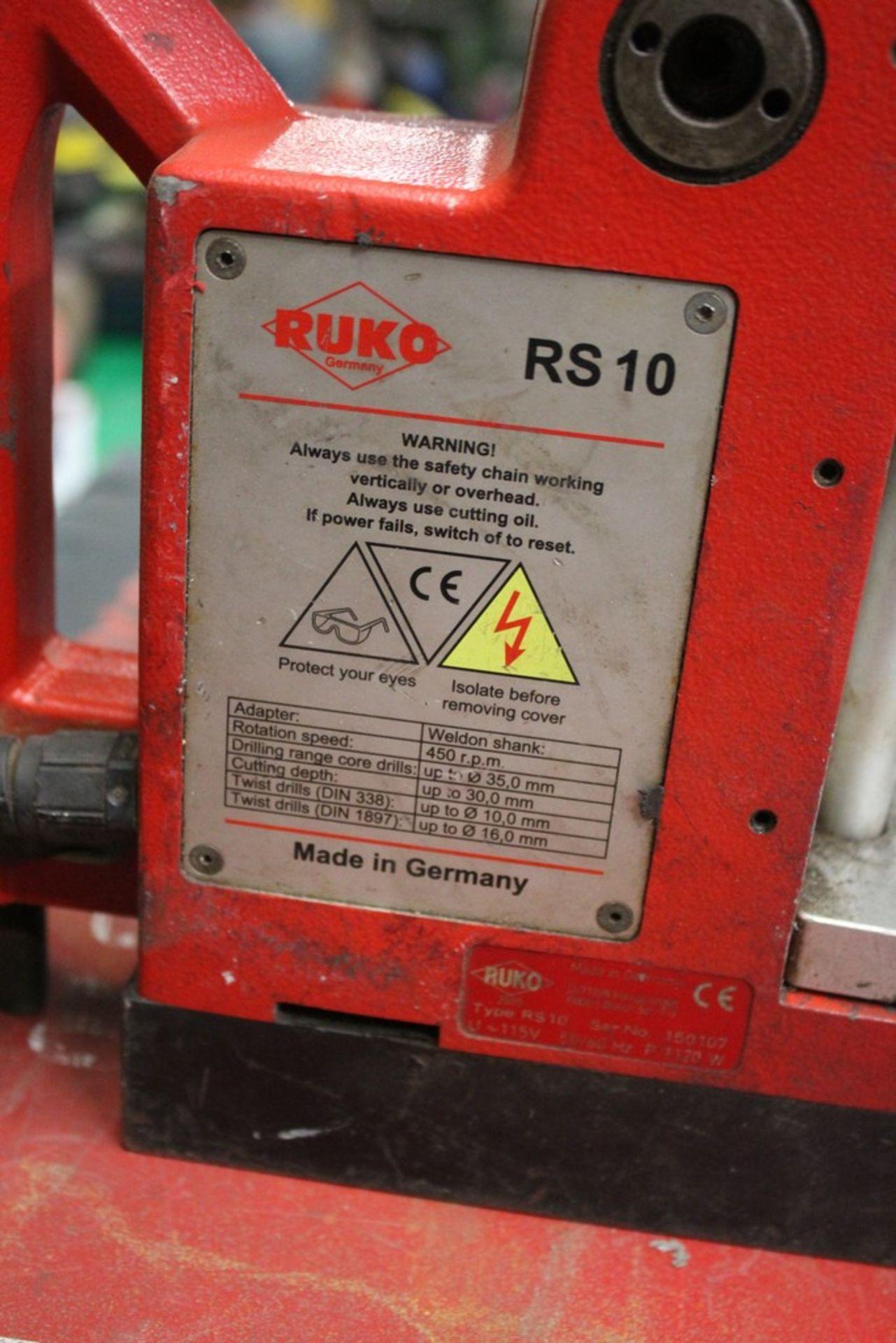 Lot 1 - RUKO MODEL RS10 MAG BASE DRILL S/N: 150107