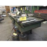 """Steel 5 drawer work bench, 10' x 36"""" x 36""""."""