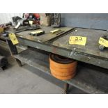 "Wood work bench, 87"" x 30"" x 37""."