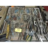 Pallet pliers, vise grips, hack saws, wrenches, drivers.