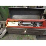 Tool box, insert holders, gauge blocks.
