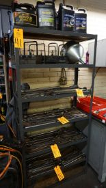 Lot 41 - Metal Shelving Units with Shipping Desk & Locker Door