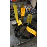 Lot 5 - Enerpac Model P51 Hydraulic Hand Pump with (2) Rams