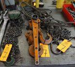 Lot 7 - Jet Model L80 1-Ton Chain Hoist with 3-Ton Lever Hoist & Chain