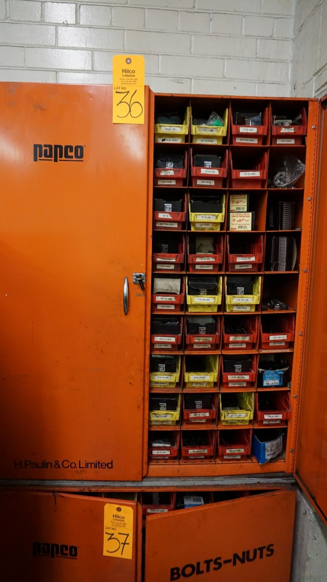 Lot 36 - Parts Cabinet with Misc. Hardware