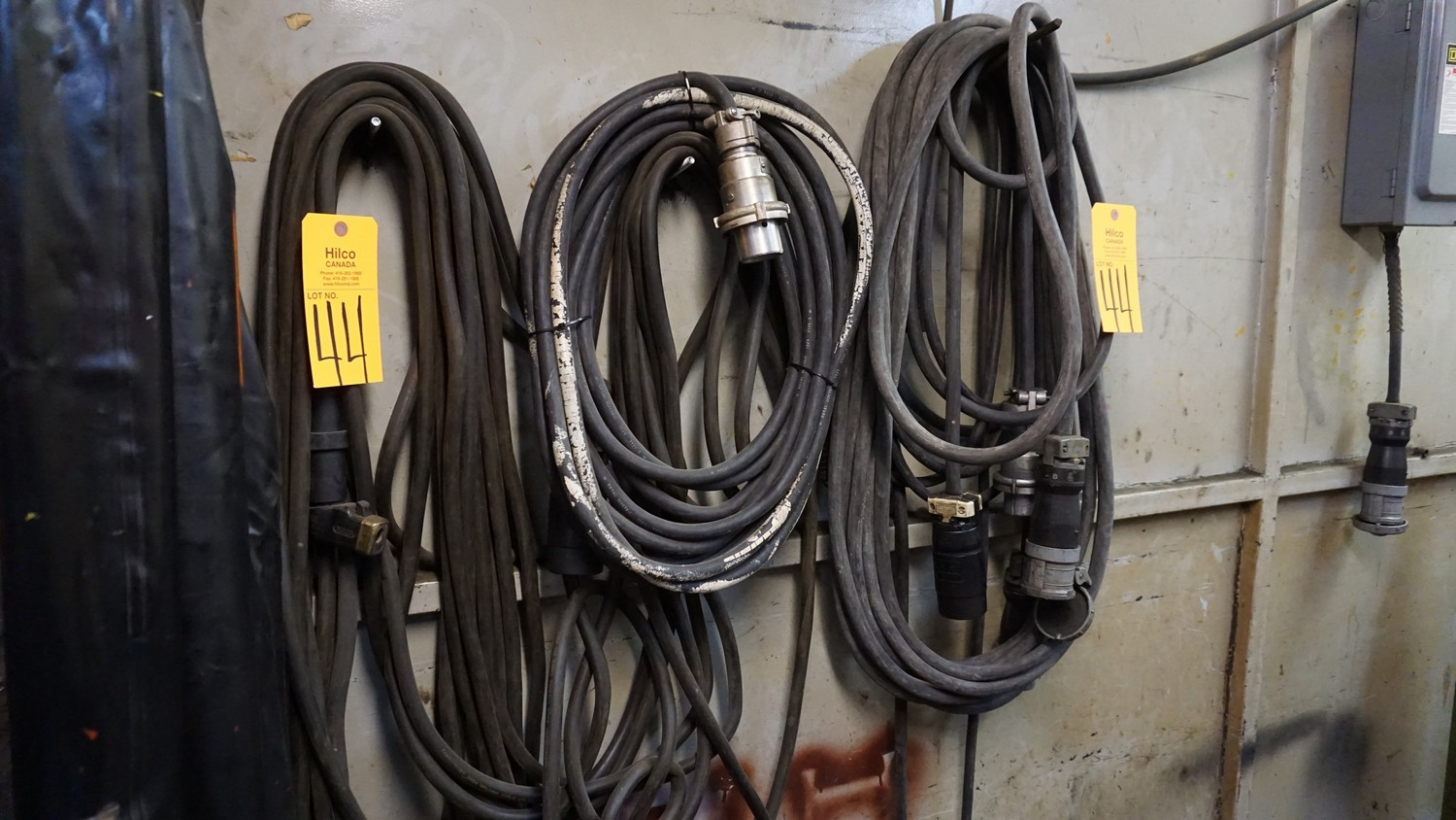 Lot 44 - Asst. Welding Wire with Extension Cable, Welding Table, Electrodes