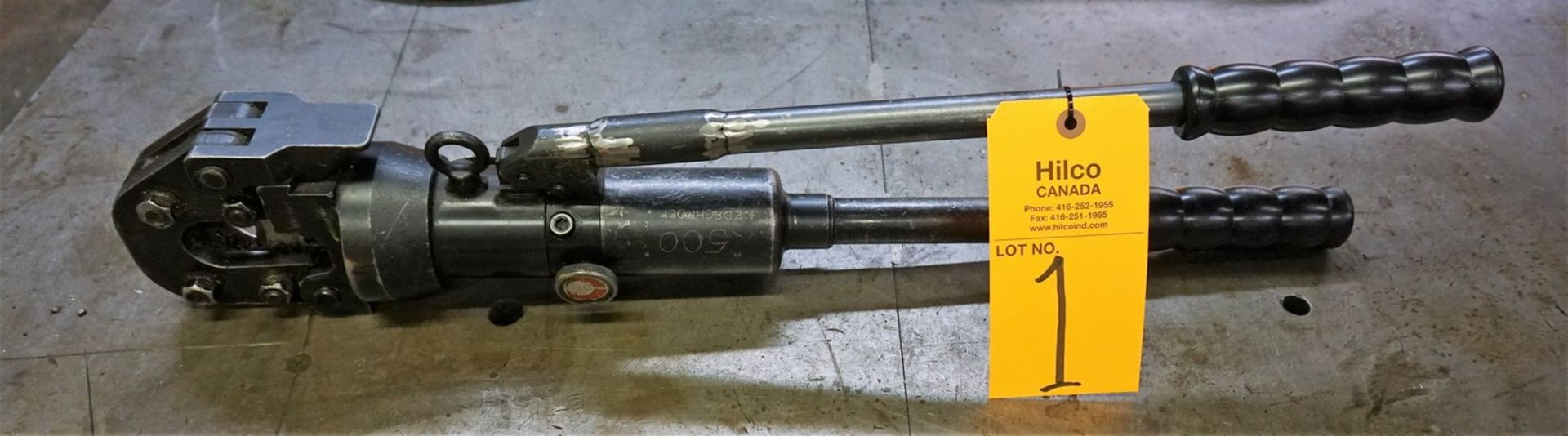 Lot 1 - Standard Hydraulic Manual Cable Cutter