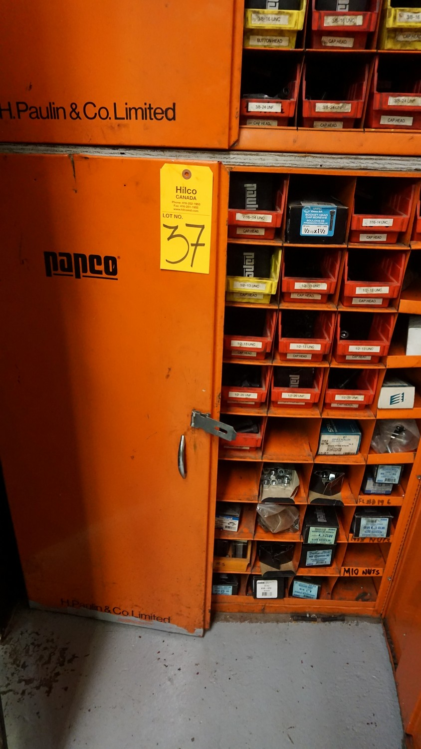 Lot 37 - Parts Cabinet with Misc. Hardware