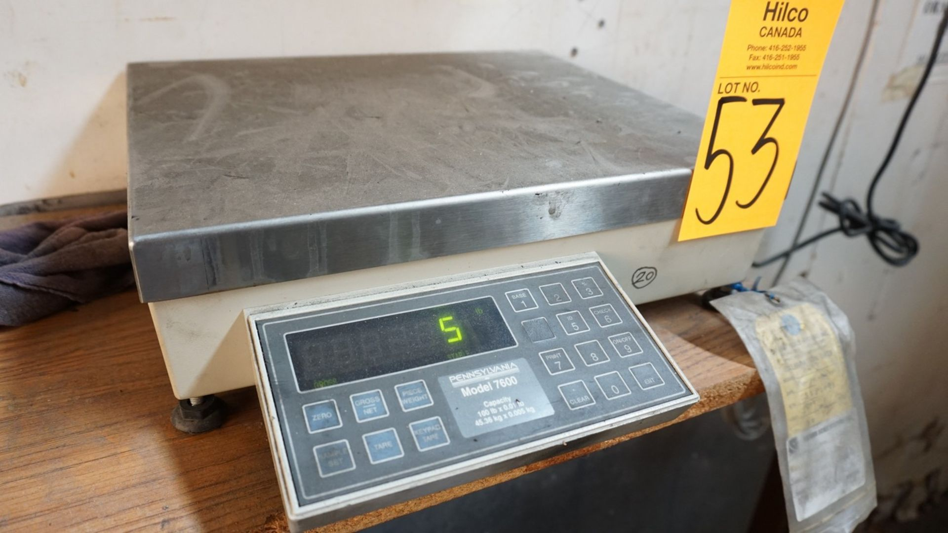 Lot 53 - Platform Scale with DRO