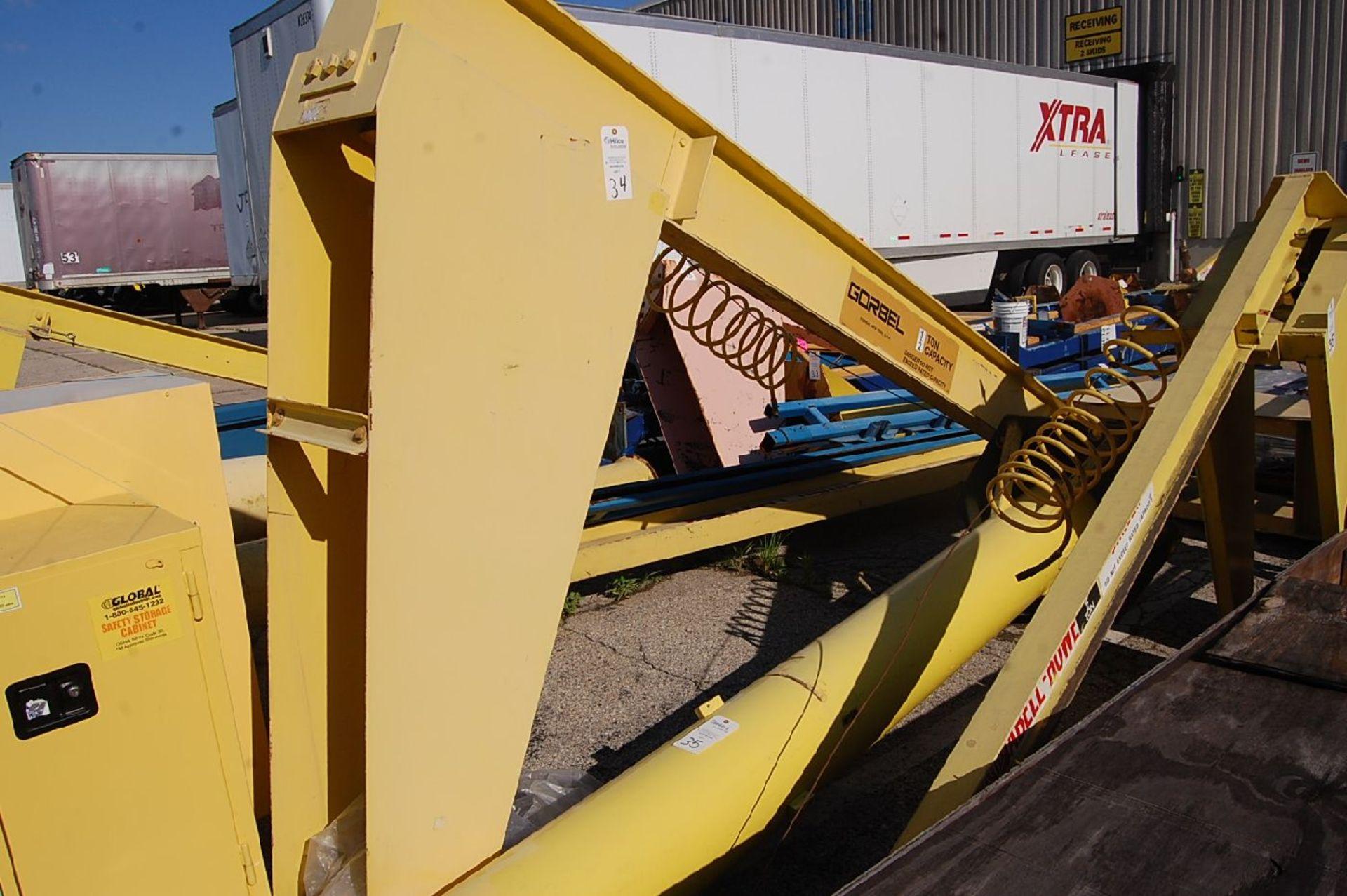 Gorbel 1/2-Ton Floor Standing Jib Crane