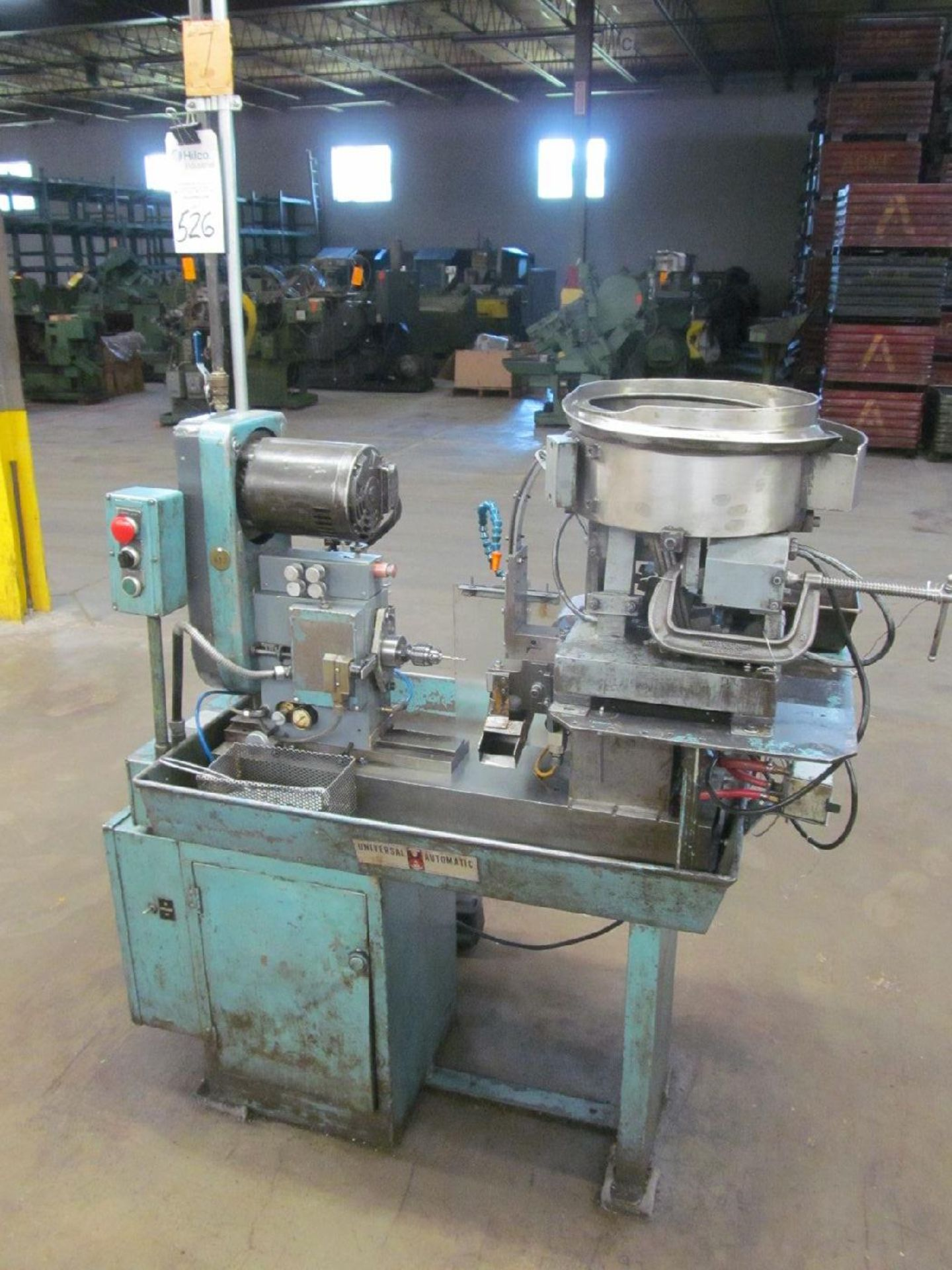 Lot 526 - Universal Automatic Corp. Model AS Single Spindle Horizontal Drilling & Tapping Machine