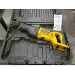 DeWalt Model DW008 Cordless Reciprocating Saw