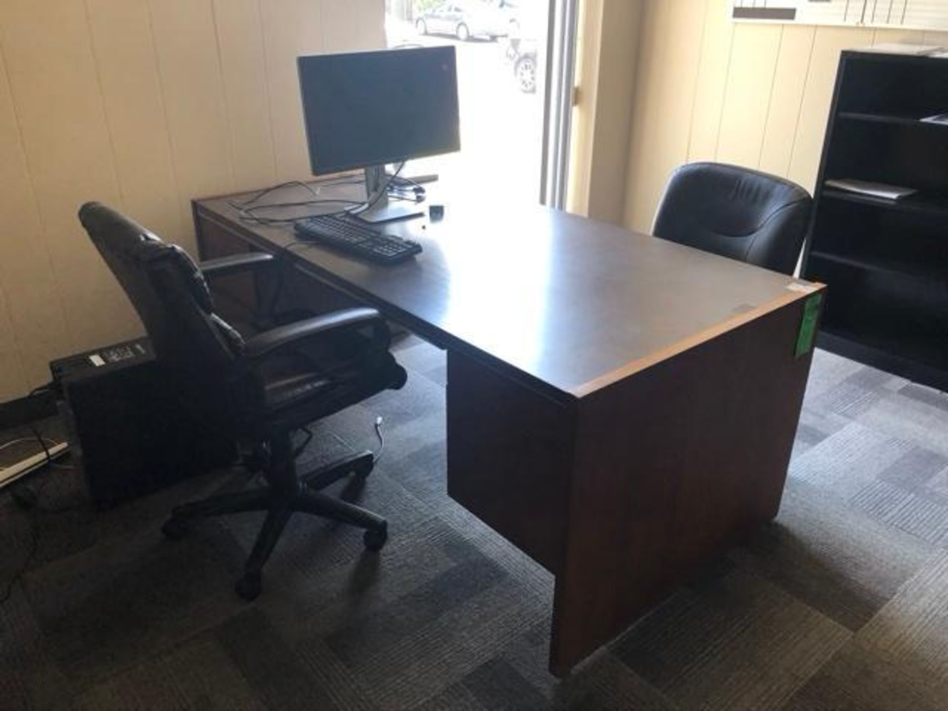 """Lot 1010 - Office Furniture To include: (1) Office Desk with Metal Base 72"""" x 36""""x 29""""; (1) File Cabinet 30"""" x"""