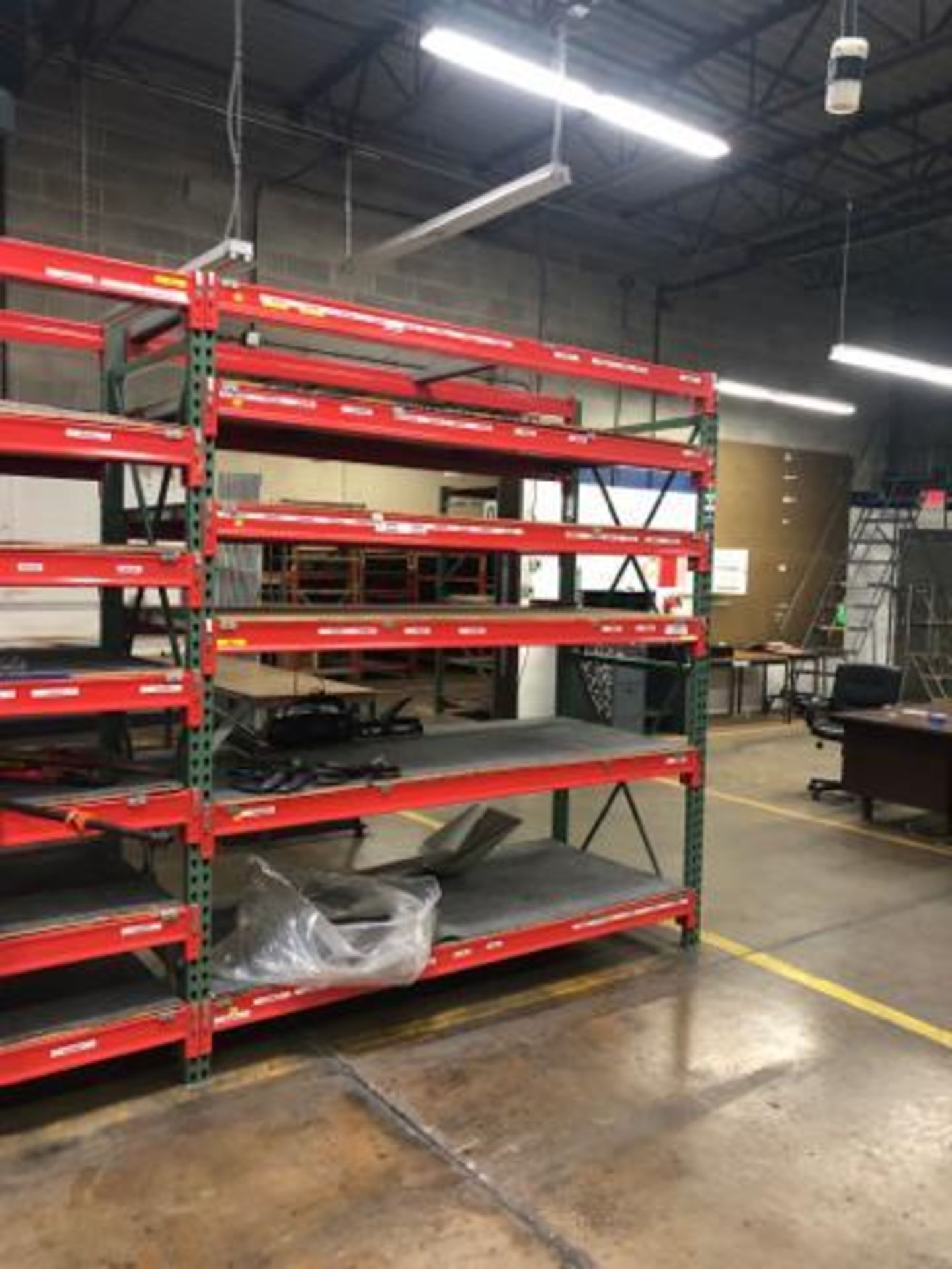 """Lot 1051 - Commercial Pallet Rack, To include: 7 UP Rights 36""""""""x 96""""x3"""", (64) Pallet Rack Beam, 87"""" x 3""""."""