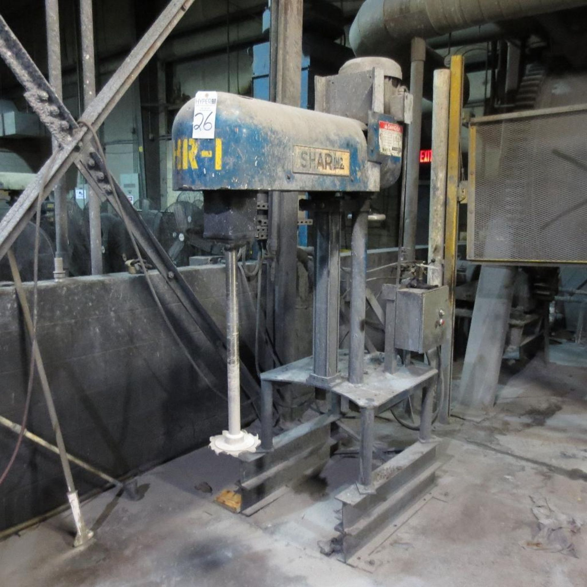 Lot 26 - Shar Model D-150-SNPB 15 Hp Bench Type Disperser, Pneumatic Lift