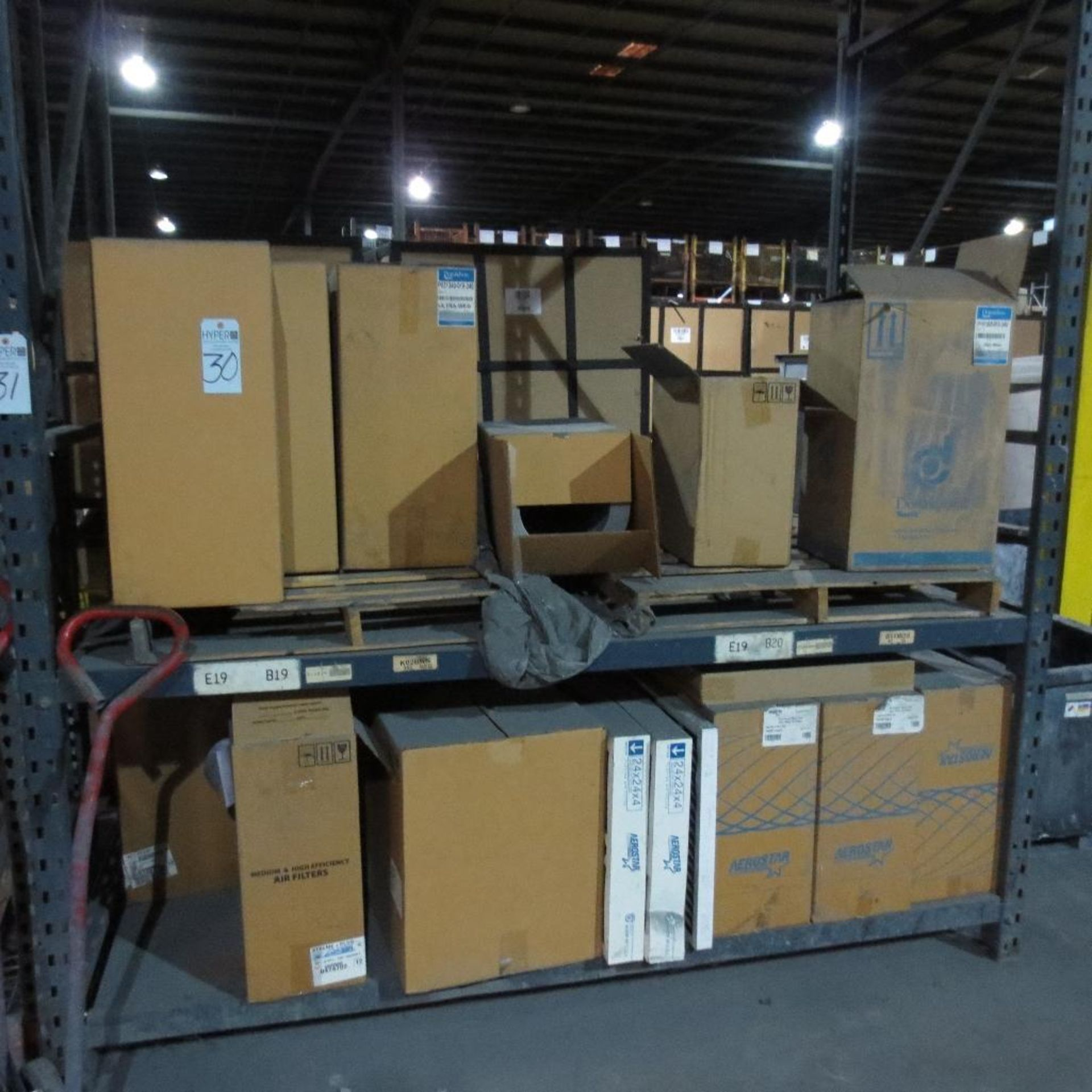 Lot 30 - Filters on Pallet Racking