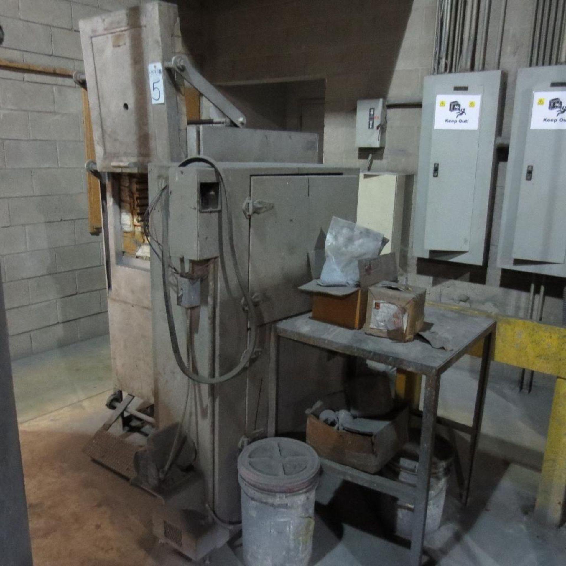 "Lot 5 - Ferro Enamels Model HT-2 10 KW Oven, 220 V, 3 PH, Apx. 11"" X 10"" Opening with Ferro Dryer"
