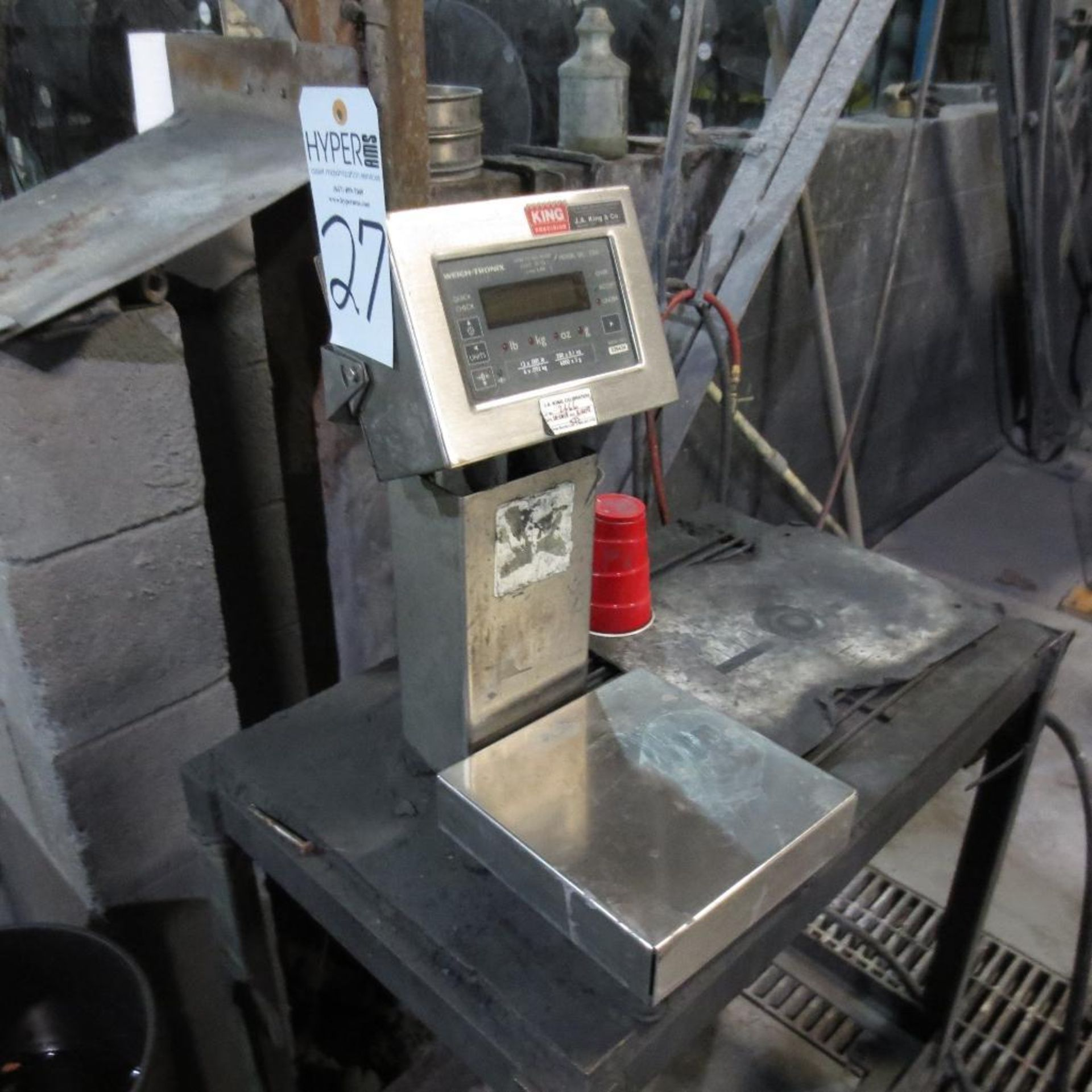 "Lot 27 - Weigh-Tronix Model QC-3265 Scale, S/N 026434, 8 1/2"" X 8 1/2"" Platform"
