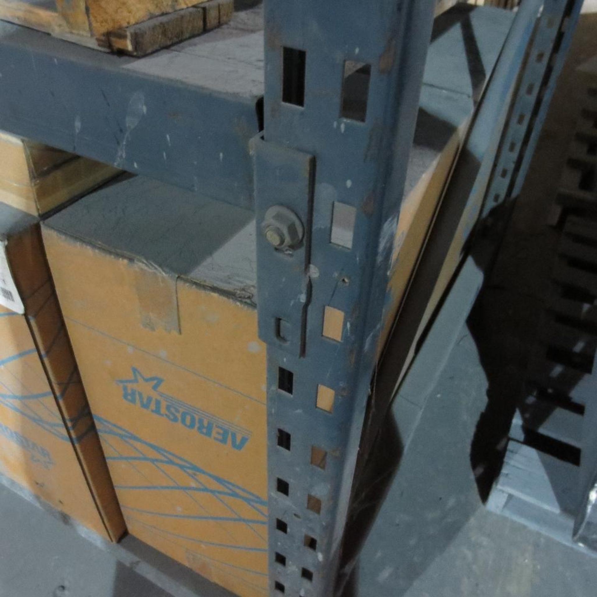Lot 31 - Section of Pallet Racking containing (2) 14' X 4' Legs and (8) 8' Cross Beams