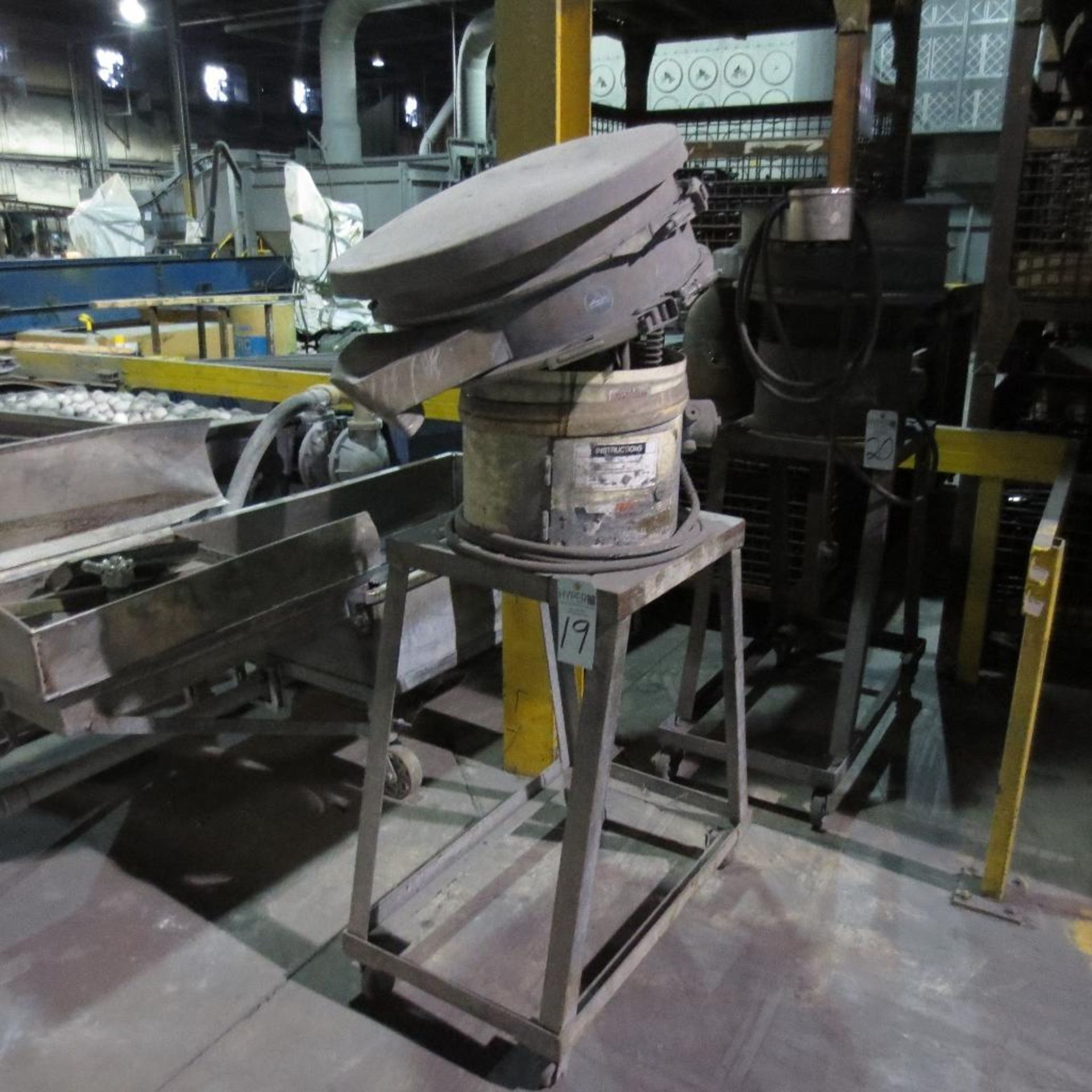 Lot 19 - Sweco Model ZS24544 Vibratory Bowl, 1200 RPM, 440V, 3 Ph, Apx 2' open Top