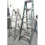 """(2) Aluminum Ladders 60"""" & 72"""""""