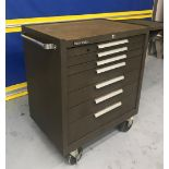 "Kennedy 297XB K2000 Series 29""W x 20""D x 35""H 7-Drawer Portable Tool Cabinet w/ Shelf"