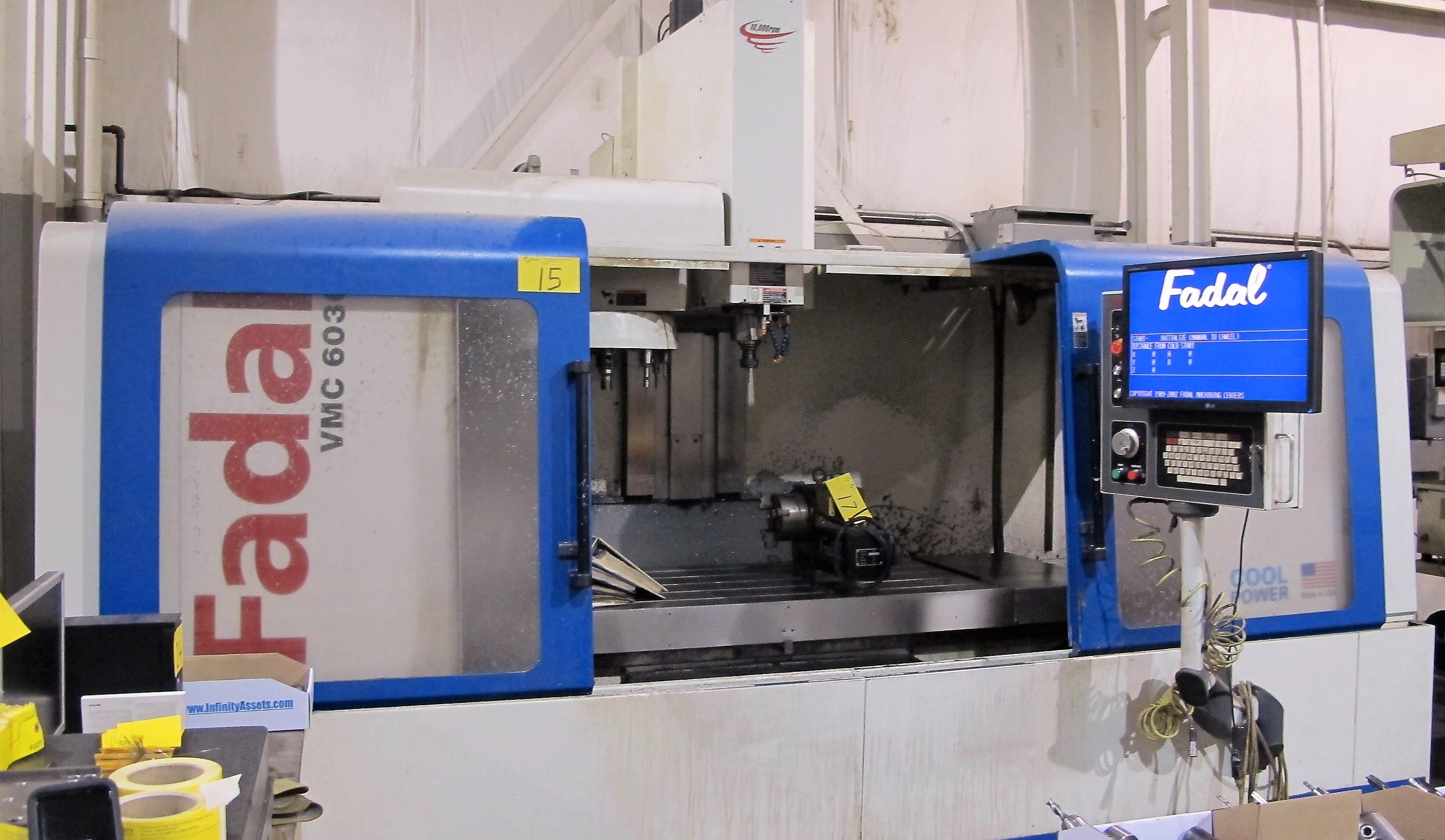 2006 FADAL VMC 6030HT CNC VERTICAL MACHINING CENTER, TRAVELS
