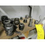 LOT OF 12 TOOL HOLDERS W/ATTACHMENTS