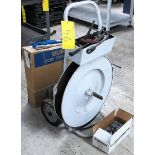 STRAPPING CART W/2 SETS OF TOOLS, METAL AND VINYL STRAPPING AND CLIPS