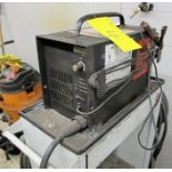 HYPERTHERM MAX 43 PLASMA CUTTER W/CART, CABLES, AND REX MANUFACTURING, PORTABLE, 9KVA TRANSFORMER