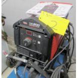 LINCOLN ELECTRIC TIG 200 SQUARE WAVE WELDER W/FOOT PEDAL, CABLES, GUN, REGULATORS, S/N M3L7020352